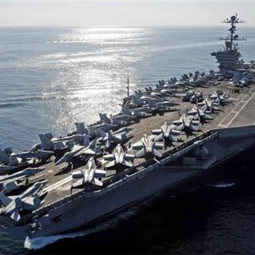 بازگشت ناوهواپیمابر آمریکایی به سمت خلیج فارس
