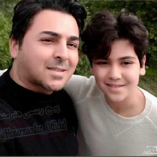 بازیگر سریال خاطره انگیز «خط قرمز» درکنار همسر و پسرش