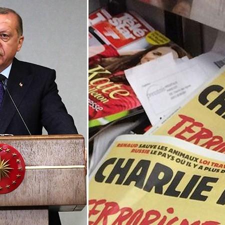 اعلام جنگ شارلی هبدو بر علیه اردوغان با انتشار کاریکاتور مستهجن