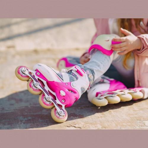 دختر نابغه یک ساله اسکیت سوار
