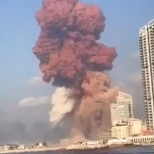 (عکس) هوایی بهت آور ازمحل انفجار بیروت