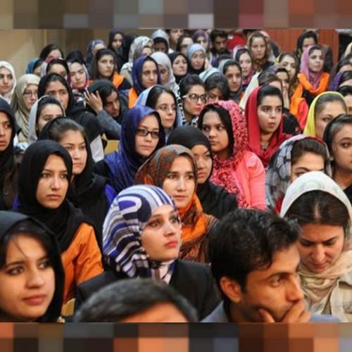(عکس) جداسازی دختران و پسران در دانشگاههای افغانستان