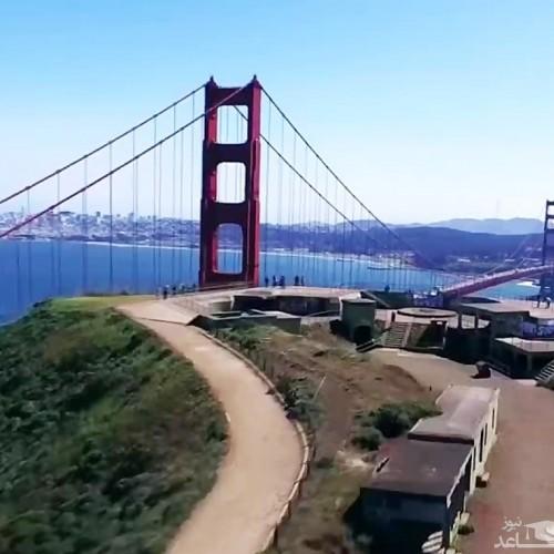 (فیلم) عبور خارق العاده یک هواپیما از زیر پل سانفرانسیسکو