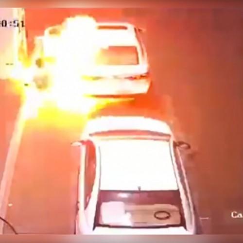 (فیلم) انفجار دستگاه کارتخوان در پمپ بنزین