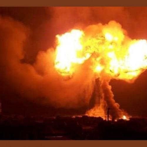 (فیلم) انفجار مهیب در پمپ بنزین با ۱۳ مجروح