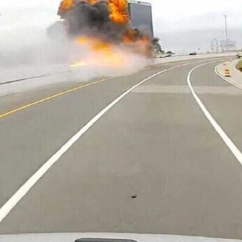 (فیلم) انفجار ناگهانی خودرویی در چین