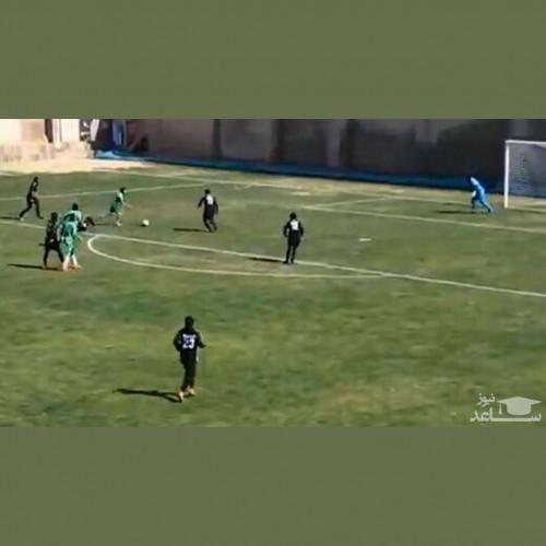 (فیلم) گل زیبای ستاره ۲۰ ساله فوتبال زنان در لیگ بانوان