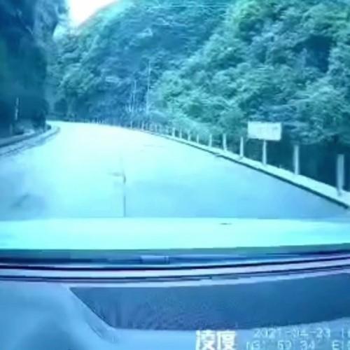 (فیلم) جان سالم به در بردن پدر و پسر از حادثه ریزش کوه