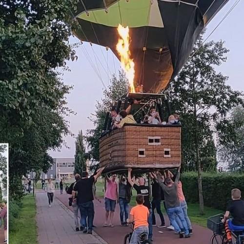 (فیلم) تلاش گردشگران برای متوقف کردن بالن سقوط کرده