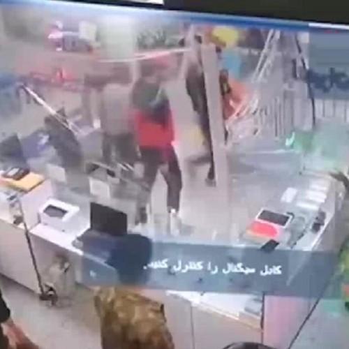 (فیلم) حمله وحشیانه اراذل و اوباش با قمه به پاساژی در گلستان تهران
