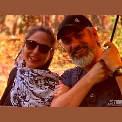 همسر جدید مهدی پاکدل و پدرش