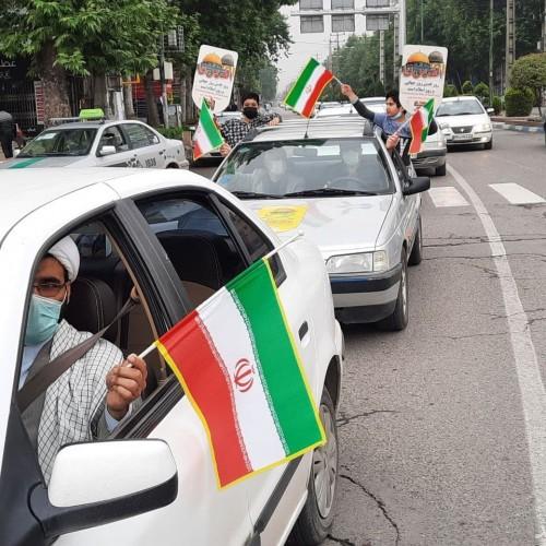 حضور خودجوش مردم ایران در حمایت از فلسطین در روز قدس