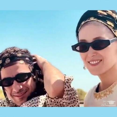 جدیدترین عکس از نوید محمدزاده و فرشته حسینی پس از ازدواج