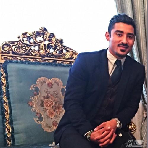 ژست عاشقانه رضا قوچان نژاد و همسرش در جشن تولدش