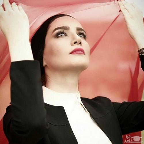 ژست زیبای متین ستوده برای دوربین