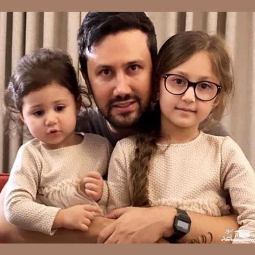 کشتی گرفتن شاهرخ استخری با دخترانش در خانه