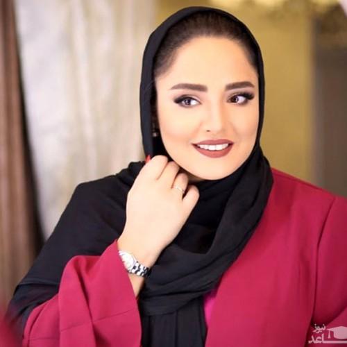 لباس زشت نرگس محمدی در یک مراسم