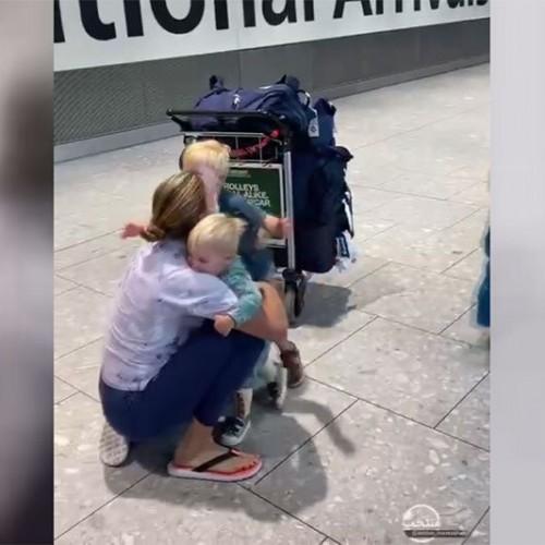 (فیلم)لحظهای احساسی از دیدار مادری که در المپیک طلا گرفته با فرزندانش