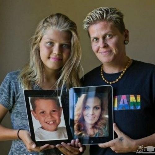 مادر و پسری که پس از تغییر جنسیت حالا پدر و دختر هستند!