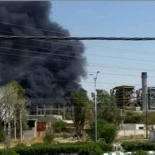 نیروگاه زرگان دچار آتشسوزی شد +فیلم