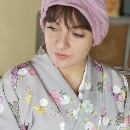 نقاشی کشف حجاب مهناز در لباس ژاپنی ها