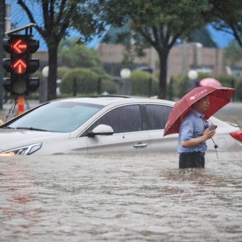 Passengers Entrapped in Flooded Underground Following the Huge Deluge in China