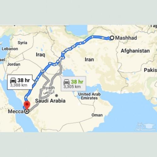 پیشنهاد ساخت جاده مشهد – کربلا – مکه