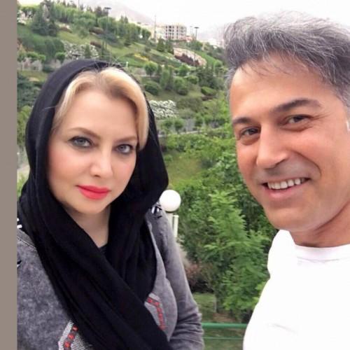 پوشش متفاوت همسر دانیال حکیمی در خارج