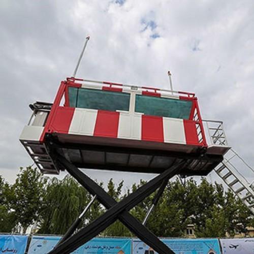 (عکس) رونمایی از برج کنترل و مراقبت سیار فرودگاهی