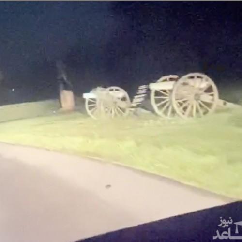 (فیلم) ثبت تصاویری رعب آور از حاشیه یک جاده خلوت