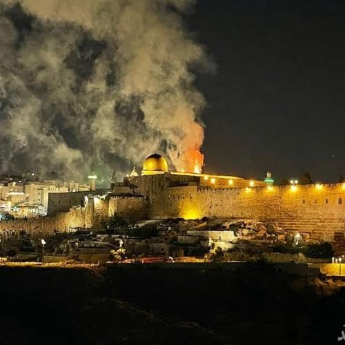 (فیلم) صهیونیستها مسجد الاقصی را به آتش کشیدند