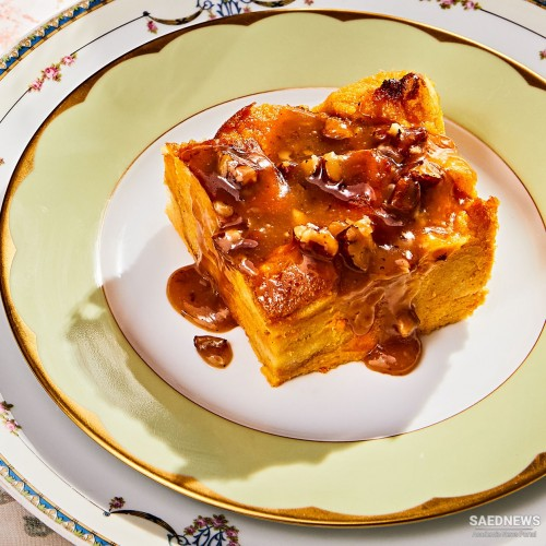 Sweet Potato Bread Pudding With Dates and Pecans