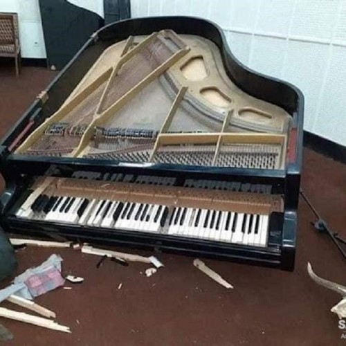Taliban Terrorists Smash Pianos and Destroy Drums in Afghanistan Music Institute