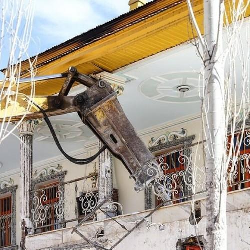 تخریب دو ویلای غیرمجاز دو مقام مسئول در فیروزکوه