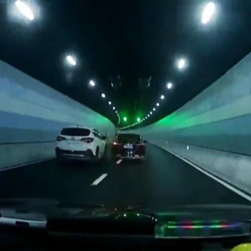 (فیلم) تصادف، عاقبت کورس انداختن در تونل