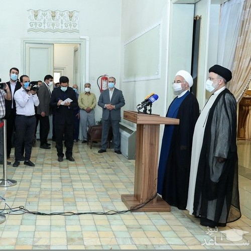 (عکس) دیدار روحانی با رئیس جمهور جدید