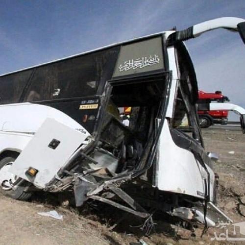 واژگونی اتوبوس در محور هراز با ۳ کشته و ۳۹ مصدوم