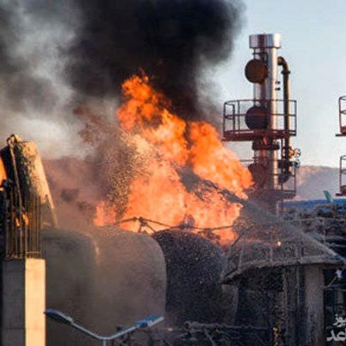 زنده زنده سوختن یک نفر در آتش سوزی پالایشگاه تهران