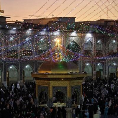 (عکس) حال و هوای شب عید غدیر در مشهد