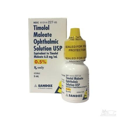 میزان و نحوه مصرف قطره چشمی تیموبایول