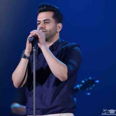بوسه رضا بهرام در وسط کنسرتش