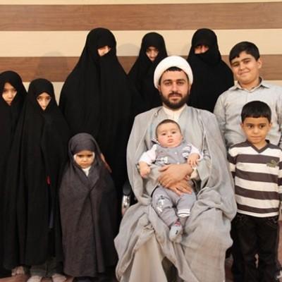طلبه ۳۷ساله، صاحب پرجمعیتترین خانواده ایرانی