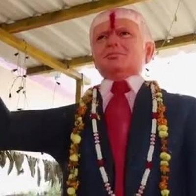 (فیلم) مرد هندی که ترامپ را پرستش میکند!
