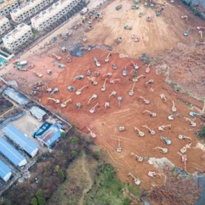 ساخت بیمارستان ١٠٠٠ تخته در چین طی یک هفته