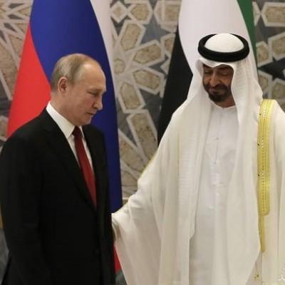 (عکس) اقدامی عجیب به افتخار ورود پوتین به امارات