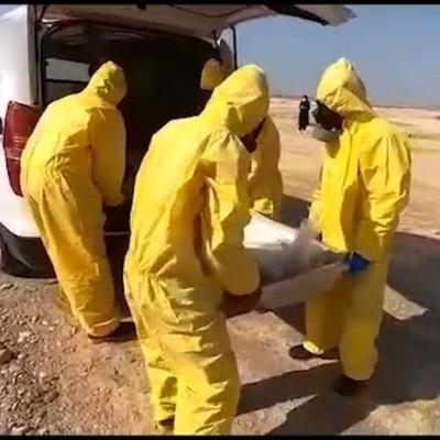(فیلم) نحوه خاکسپاری بیمار کرونایی در بندرامام خمینی (ره)