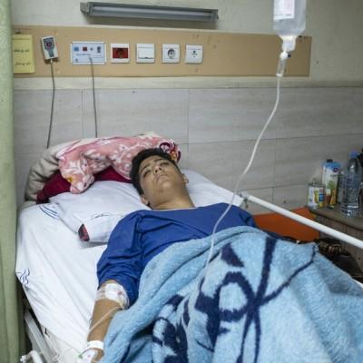 (عکس) مجروحان حوادث اخیر تهران
