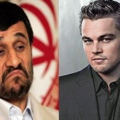 عکس فوق  زیرخاکی از دوران خدمت وظیفه احمدی نژاد و دیکاپریو