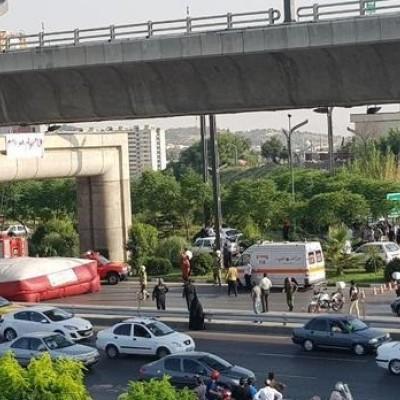 (عکس) خودکشی نافرجام جوانی در پل صدر