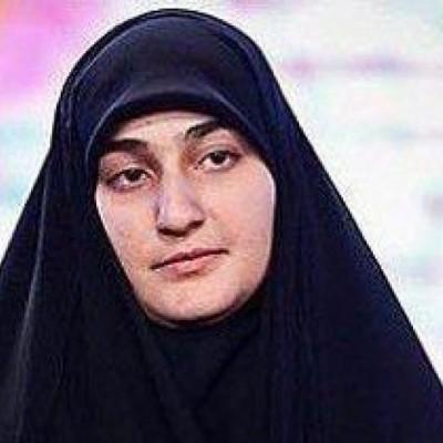 اولین پست دختر سردار بعد از شهادت پدرش
